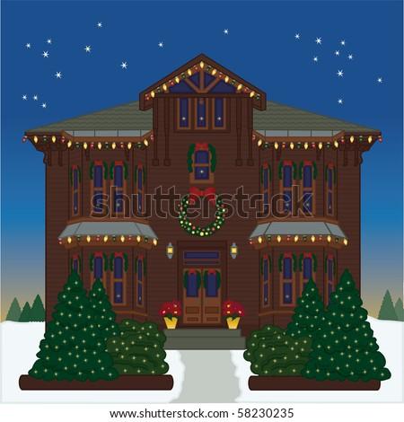Holiday House - Raster version - stock photo