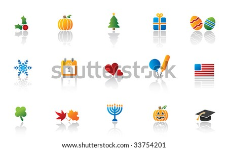 holiday icon set. high res JPG