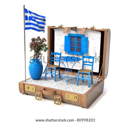 Holiday in Greece - stock photo