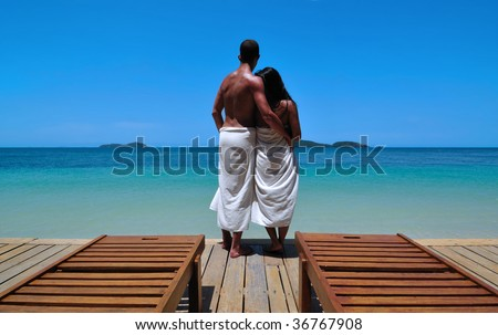 Holiday in Paradise - stock photo