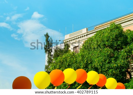 holiday in the city - stock photo