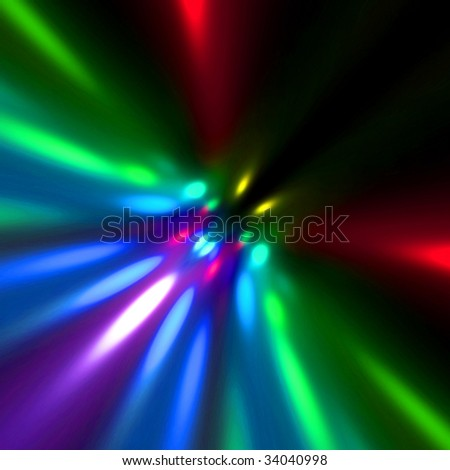 Holiday Lights Abstract - stock photo