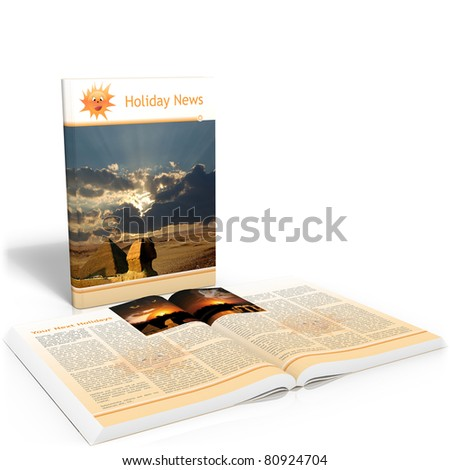 holiday news - 3d render - stock photo