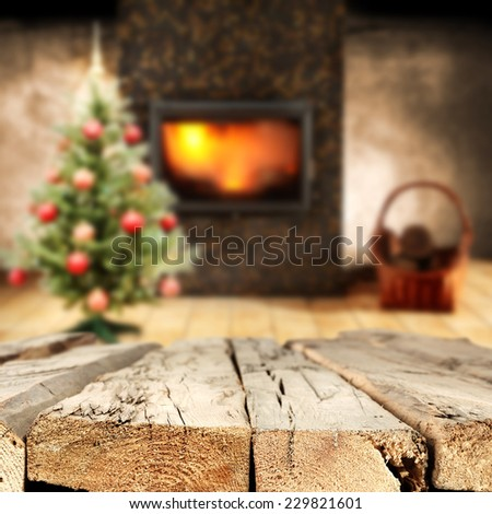holiday old table  - stock photo