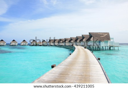 Holiday on the over water villas, Maldives island
