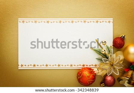 Holiday paper invitation card - stock photo