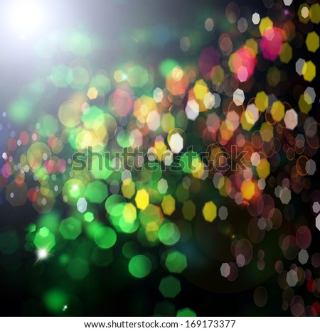 Holiday.Party. Abstract Backdrop with Lights