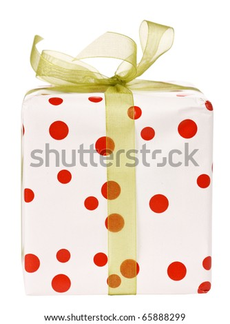 holiday present - stock photo