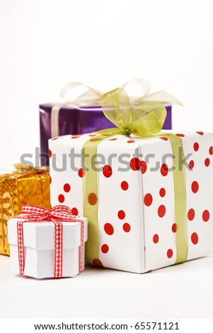 holiday presents - stock photo