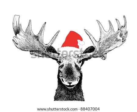 Search additionally Funny Christmas Card Moose Design Hand 88407007 moreover Big Buck Cliparts also Cara De Papa Noel Para Colorear 22211 in addition Reindeer Ears Coloring. on reindeer antler hat clip art