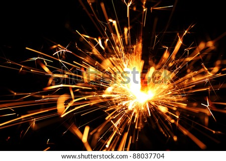 holiday sparkler macro close up - stock photo
