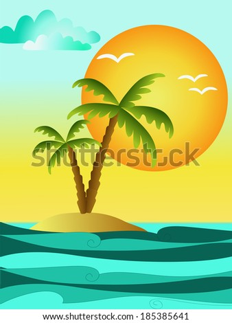 holiday summer background illustration