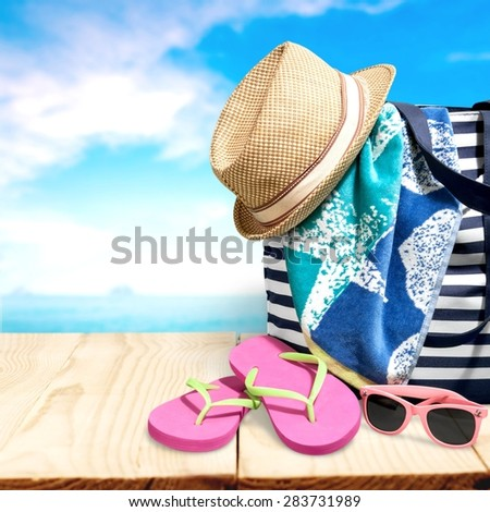 Holiday, summer, isolated. - stock photo