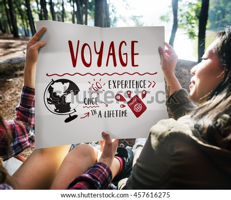 Holiday Travel Voyage Vacation Trip Concept - stock photo