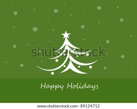 Holiday Tree - Happy Holidays - stock photo