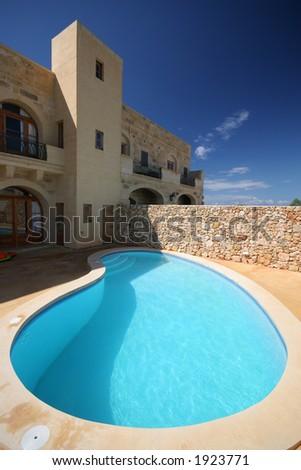 holiday villa - stock photo