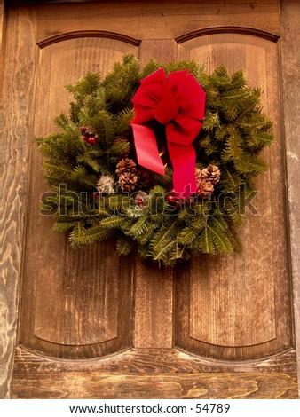 Holiday Wreath - stock photo