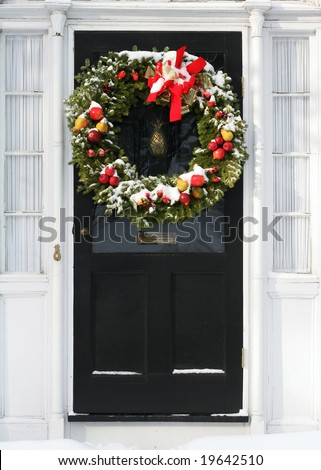 holiday wreath with fruit