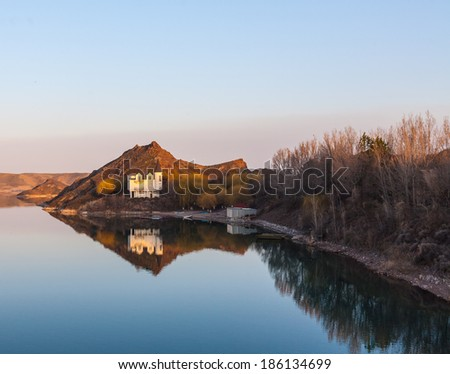 Holidays at the lake, where peace and quiet - stock photo