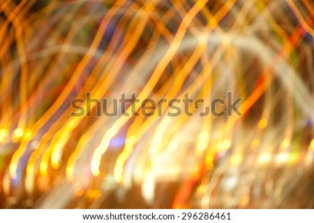 holidays, illumination and electricity concept - golden bright night lights background - stock photo