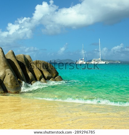 Holidays in the Caribbean - stock photo