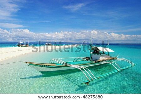 holidays on tropical island - stock photo