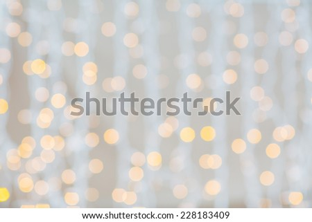 holidays, party and celebration concept - blurred glden lights background - stock photo