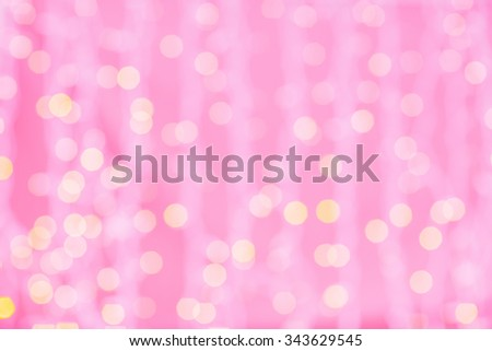 holidays, party and celebration concept - blurred pink and golden background with bokeh lights - stock photo