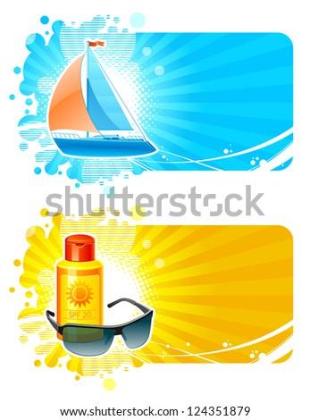 Holidays, Resort & travel frames - stock photo