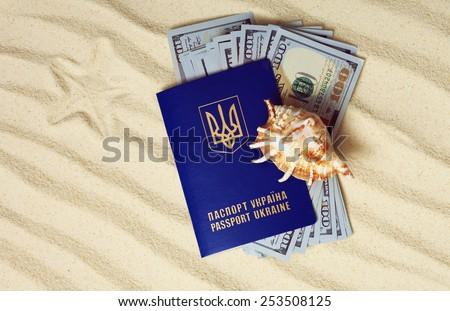 Holidays. Travel documents.  - stock photo