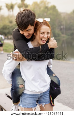 holidays, vacation and love concept - stock photo
