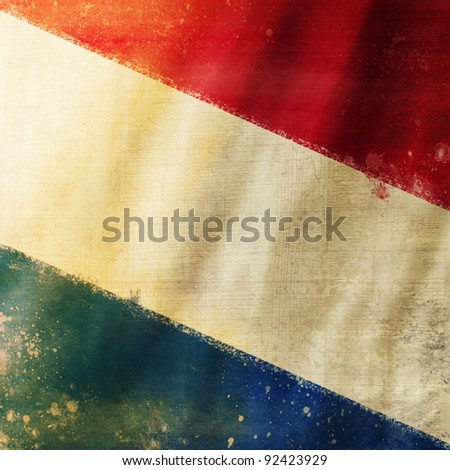 Holland flag ,grunge and retro flag series - stock photo