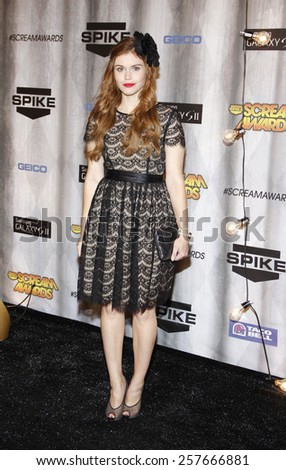 Holland Roden at the Spike TV's 'SCREAM 2011' awards held at Universal Studios in Universal City, California on October 15, 2011. - stock photo