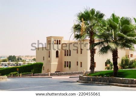 Holliday villa at the luxury hotel, Ras Al Khaimah, UAE - stock photo