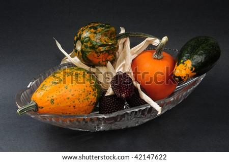hollovin's gourds & pumpkins - stock photo