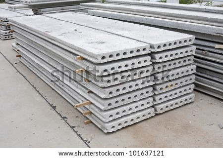 hollow core slab - stock photo