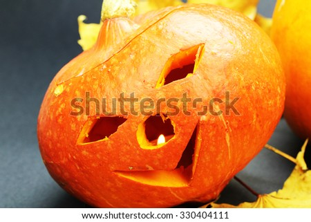 hollow pumpkin scary monsters in strange mines