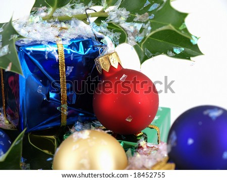 Holly and Decorations