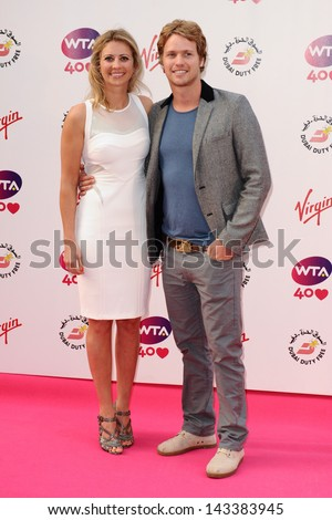 Holly and Sam Branson arriving for the WTA Pre-Wimbledon Party 2013 at the Kensington Roof Gardens, London. 20/06/2013 - stock photo
