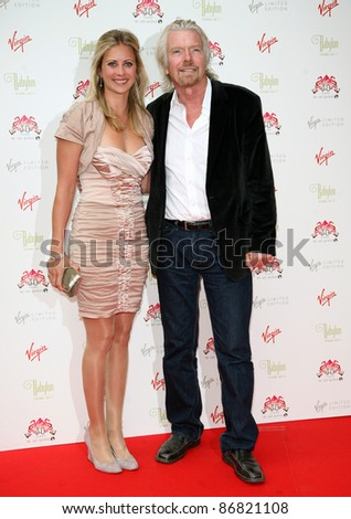 Holly Branson and Richard Branson arriving for The Roof Gardens - 30th Anniversary Party, Kensington Roof Gardens, west London. 06/06/2011  Picture by: Alexandra Glen / Featureflash - stock photo