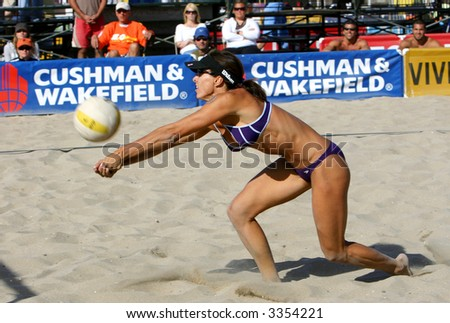 holly mcpeak at avp professional volleyball tournament at huntington beach