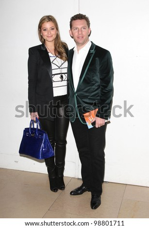 Holly Valance and Nick Candy arriving for  Matthew Williamson A/W, at London Fashion Week. 19/02/2012 Picture by: Henry Harris / Featureflash