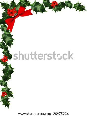 ... holly border holly berries holly berry clip art holly berry border