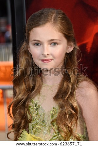 "HOLLYWOOD - APR 18:  Isabella Kai Rice arrives to the ""Unforgettable"" World Premiere  on April 18, 2017 in Hollywood, CA"