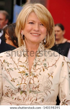 HOLLYWOOD - APRIL 28: Martha Stewart at The 33rd Annual Daytime Emmy Awards at Kodak Theatre on April 28, 2006 in Hollywood, CA. - stock photo