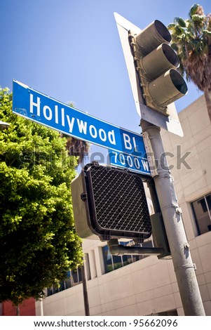 Hollywood boulevard sign - stock photo