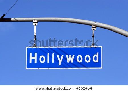 Hollywood Boulevard street sign, Los Angeles, California, USA. - stock photo