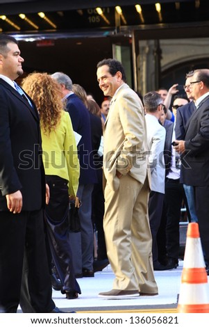 HOLLYWOOD CA - APRIL 22, 2013: Actor Tony Shalhoub attends Pain & Gain premiere held at the TCL Chinese Theatre April 22, 2013 Hollywood, CA. - stock photo