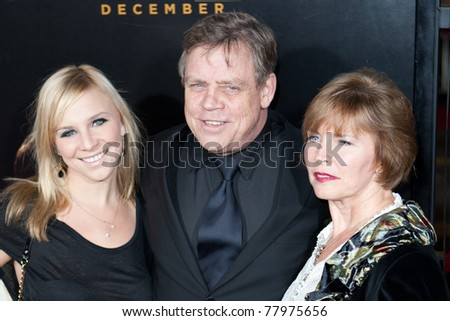 HOLLYWOOD, CA. - DEC 7: Mark Hamill (mid) and guests arrive at the Los Angeles premiere of The Fighter at Grauman's Chinese Theatre on Dec. 7, 2010 in Hollywood, California.