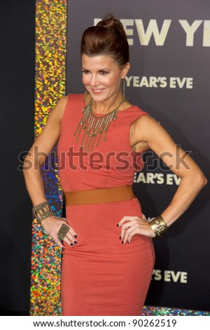 "HOLLYWOOD, CA - DECEMBER 5: Actress Shea Curry arrives at the premiere of ""New Year's Eve"" at Grauman's Chinese Theater on December 5, 2011 in Hollywood, California - stock photo"